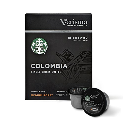 Starbucks Medium Roast Brewed Coffee Single-Serve Verismo Pods, Colombia, 72 Count by Starbucks