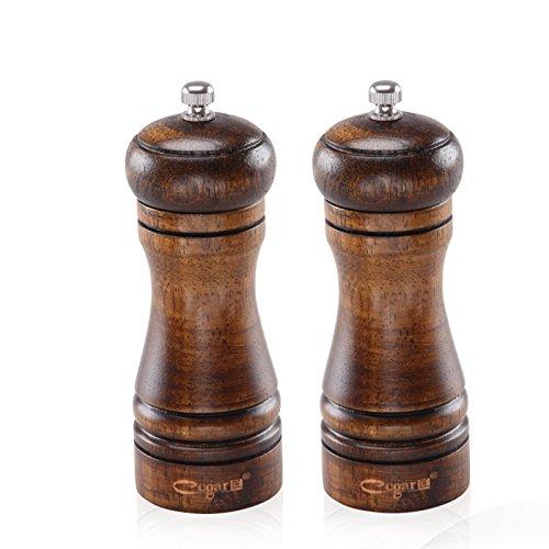 salt and pepper grinders wooden - 8