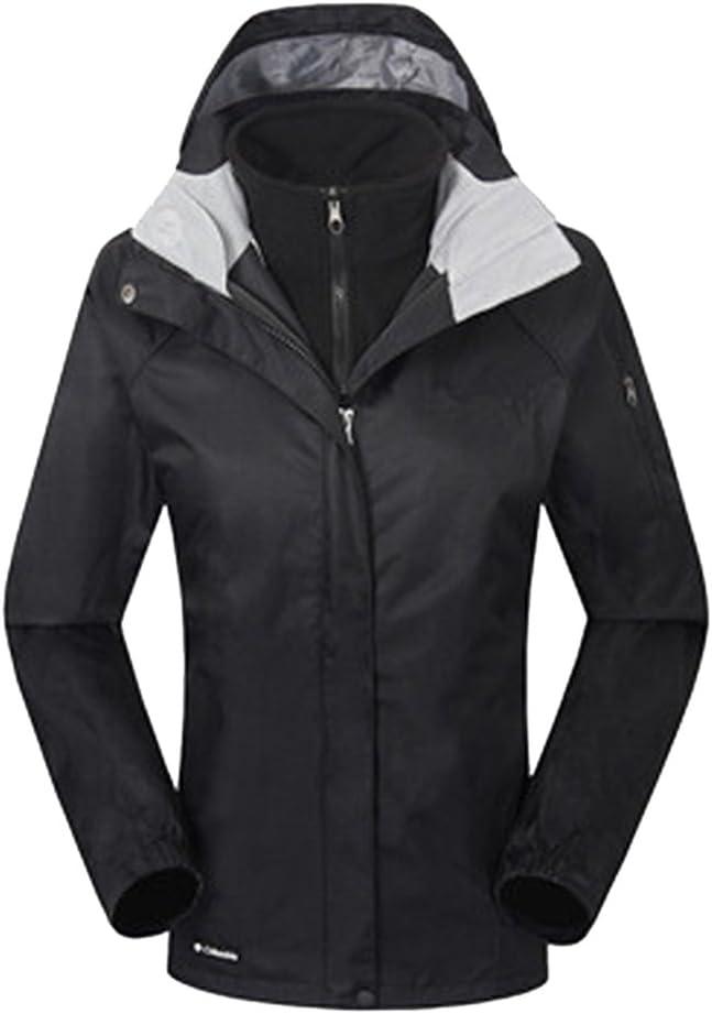 ZKOO Donna 2 Strati Softshell Giacca Fleece Sport Giacca Giacca a Vento Funzionale Impermeabile Outdoor Trekking Giubbotto Autunno e Inverno
