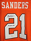 Barry Sanders Oklahoma State Cowboys Signed Autographed Orange #21 Jersey COA