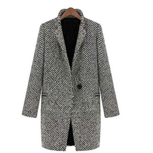 TraveT Womens Long Sleeve Classic Trench Coat Overcoat, Button Closure Coat