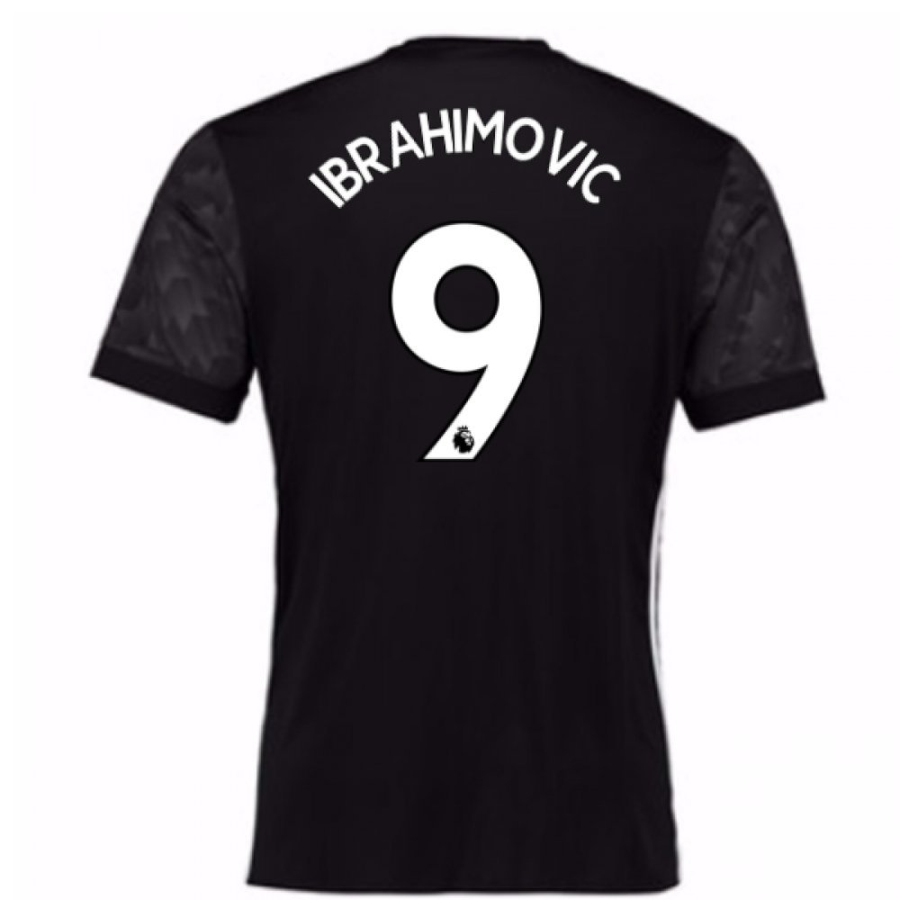 2017-18 Man Utd Away Football Soccer T-Shirt Trikot (Kids) (Zlatan Ibrahimovic 9)
