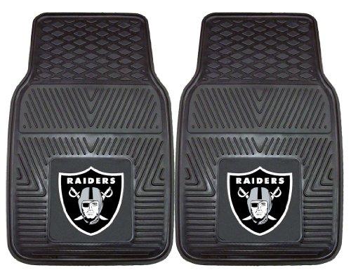 Oakland Raiders Heavy Duty 2 Piece Vinyl Car Mats ()