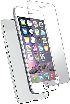 avant-garde de l'époque dernière sélection chaussures décontractées Peach Coque iPhone 6 Plus en silicone souple transparent + Film de  Protection d'écran verre trempé