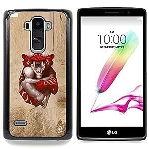 """Qstar Arte & diseño plástico duro Fundas Cover Cubre Hard Case Cover para LG G4 Stylus H540 (Tigre de bebé"""")"""