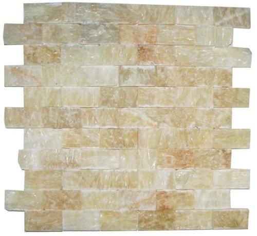 Honey Onyx Split Face 1x2 Mosaic Tile for Kitchen Backspl...