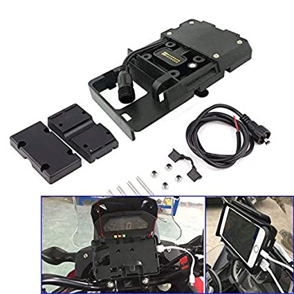 USB Navigation GPS Phone Charger Mount Stand for BMW R1200GS A LC ADV 12mm Bar
