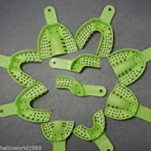 10Pcs Dental Plastic Disposable Supply Impression Trays Perforated Autoclavable