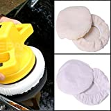 Car Polisher Bonnet,Amadear 4 Pcs Polishing Bonnet Buffer Polishing Pad For 9inch & 10inch Car Polisher