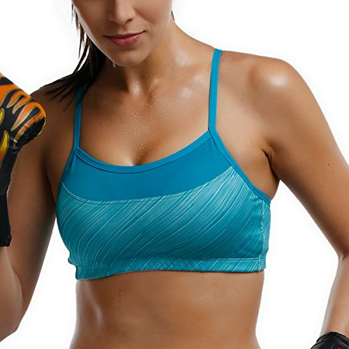cc89dadd9dec3 Related Products. La Isla Women s Alexis Print Strappy Racer Back High  Impact Sports Bra