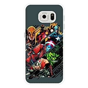 Iphone4/4S Case, UniqueBox Customized Marvel Comics The Avengers White Hard Plastic Case Only Fit Iphone 5/5S Case Cover