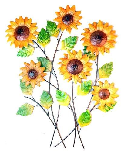 Wall Art - Metal Wall Art - Sunflower Cluster Bunch: Amazon.co.uk ...