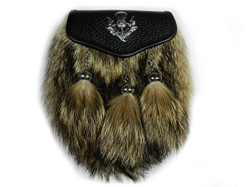 Scottish Kilt Coyote Fur Sporrans - Formal or Semi Formal (Semi Formal)… (Semi Formal)