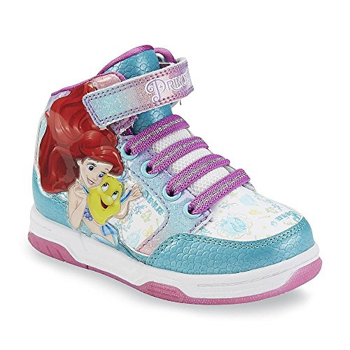 Disney Princess Ariel The Little Mermaid Girls Hi Top Sneaker (12 M US Little (Princess Ariel Shoes)
