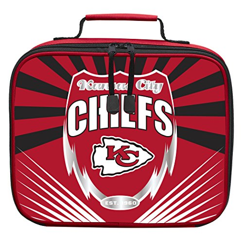 The Northwest Company Officially Licensed NFL Kansas City Chiefs Lightning Kids Lunch Kit, Red