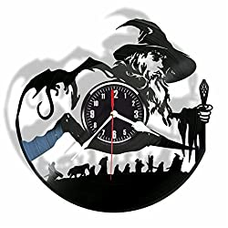 The Lord of the Rings vinyl wall clock- Modern room decor - Unique Handmade gift for friends and someone you love