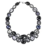 Dazzling Garland Luscious Black Crystals Statement Necklace