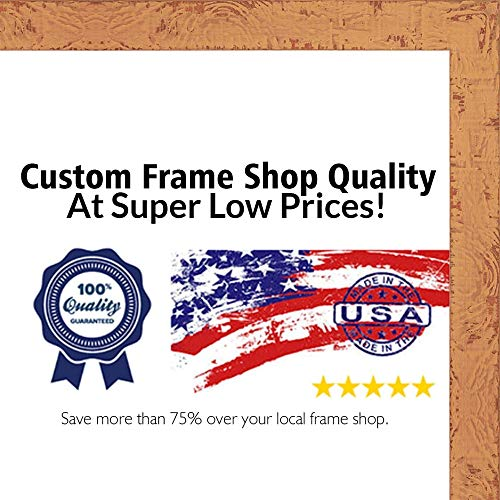 Poster Palooza 24×30 Shabby Chic/Farmhouse Orange Picture Frame – UV Acrylic, Foam Board Backing, Hanging Hardware 24″ x 30″ Review
