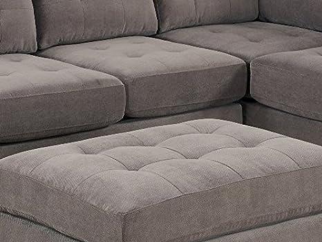 Amazon.com: Bobkona Austin juego de sofás de 3 piezas ...
