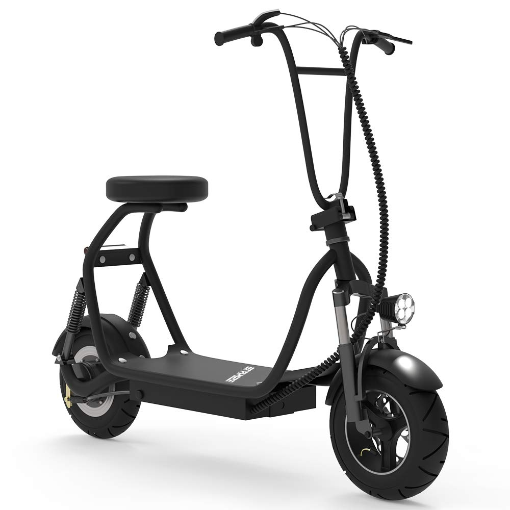 SKRT Electric Bicycle/E-Bike/Scooter 350W 48V 18.6 Miles Long-Range Battery Foldable Easy Carry Portable Design, Adult Electric Scooter Up to 18 MPH Commuter Scooter (Black) by SKRT