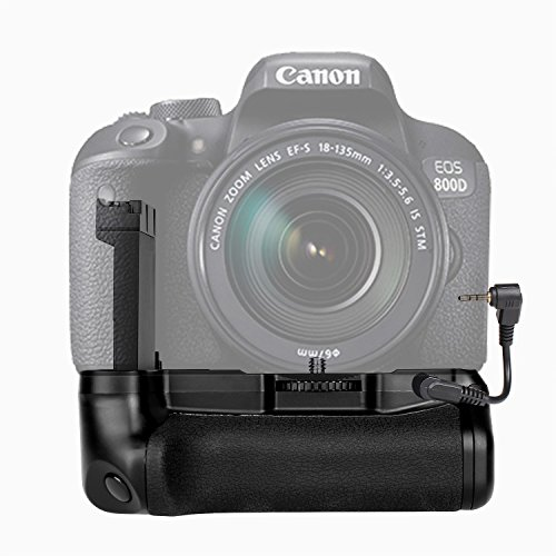 (SAMTIAN Vertical Battery Grip Battery Holder Pack BG-1X for Canon EOS 800D/Rebel T7i/77D/Kiss X9i, Compatible with LP-E17 Battery (Not Included))