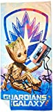 Marvel Guardians of The Galaxy 2 Tangled Groot Cotton Bath, Pool, Beach Towel, 28'' x 58''