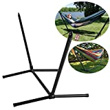 Portable Space Saving Steel Hammock Stand Set Outdoor Patio for 9 Foot Hammocks