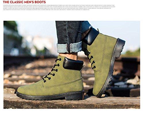 Santimon Herren Damen Chukka Stiefel Schneestiefel Leder Schnüren Sich oben Arbeit Desert Boots Stiefeletten Outdoor Schuhe Braun 35 hA4xjcgKF