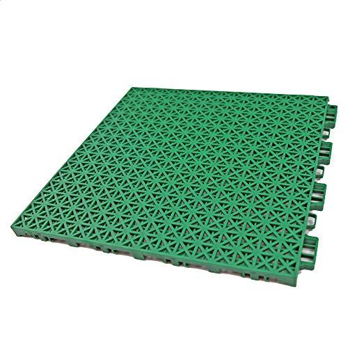 8 Inch Floor Tile - RevTime Interlocking Rugged Grip-Loc Deck Floor Tiles 12