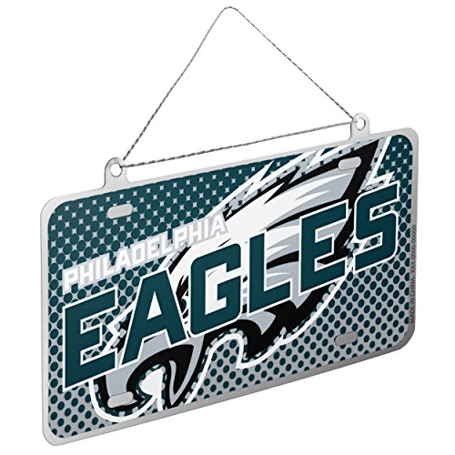Philadelphia Eagles NFL Metal License Plate Sign Christmas Tree Ornament - Philadelphia Eagles Nfl Metal