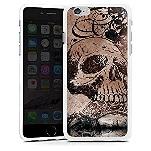 Carcasa Design Funda para Apple iPhone 6 silicona case blanco - The Skull