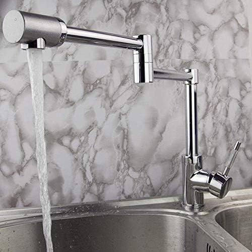 Yadianna バスルームのシンクは、スロット付き浴室の洗面台のシンクホットコールドタップミキサー流域の真鍮のシンクの銅レトロシングルユニットは、蛇口ファッションクリエイティブホットとコールド単穴リフトキッチン蛇口用品タップ