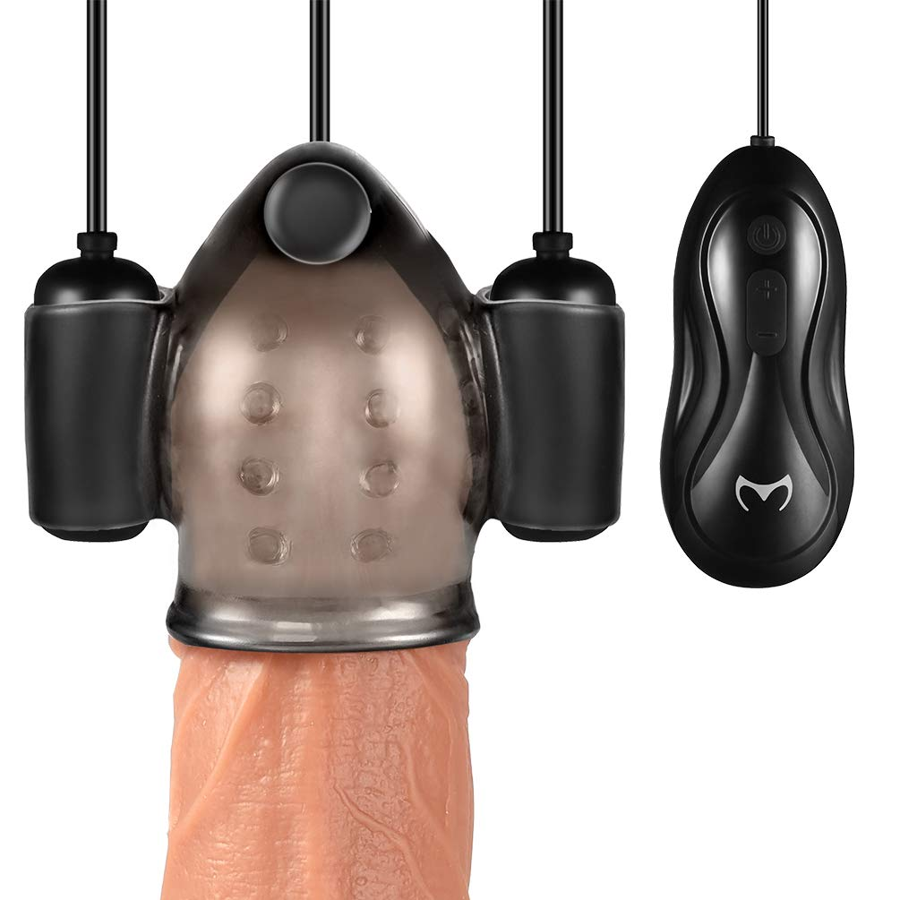 Glans Training Set,Utimi Penis Vibrator Multi-Speed Bullet Masturbator with 3 Love Eggs