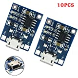 TP4056 Board Aobiny 10Pcs 1A5V TP4056 Lithium Battery Charging Module USB Board Electronic Component