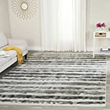 Safavieh Adirondack Collection ADR126N Ivory and Charcoal Modern Area Rug (8′ x 10′)