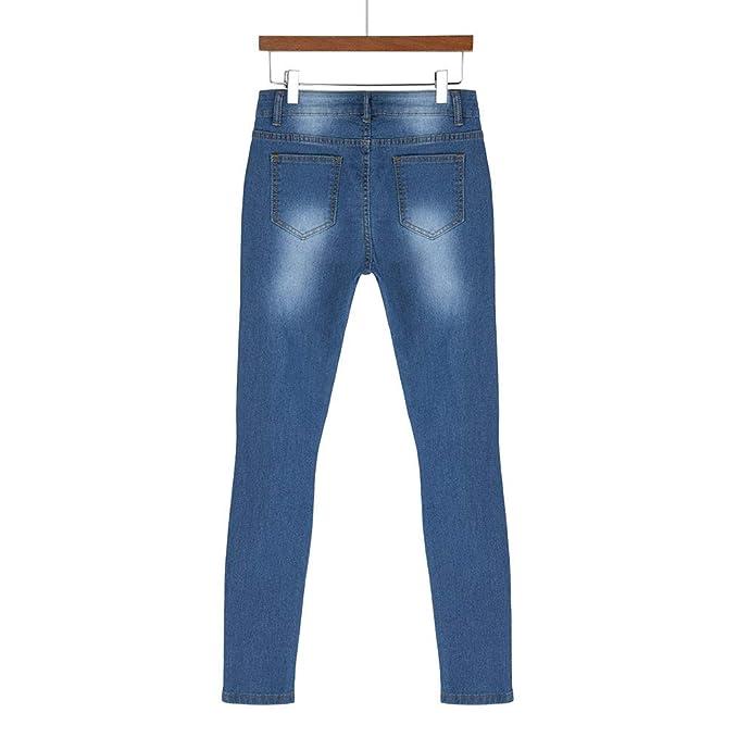 Amazon.com: VEZAD - Pantalones vaqueros para mujer con ...