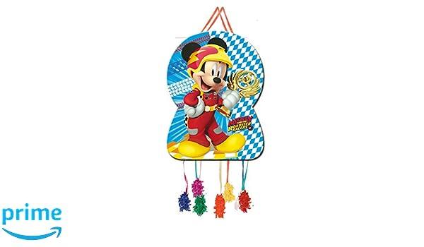 ALMACENESADAN 0871; Piñata Silueta Disney Mickey Mouse, Dimensiones 46x65 cm; Producto de cartón