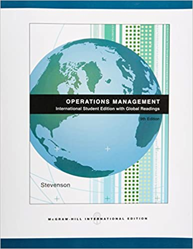 Operations Management William J Stevenson 9780071109161
