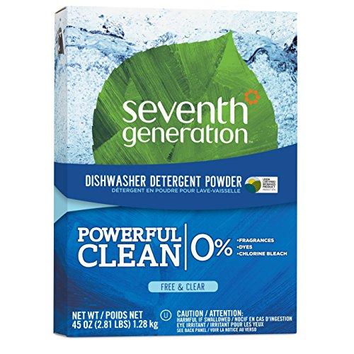 Seventh Generation Auto Dish Powder, Free & Clear, 45 oz