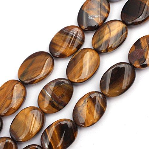 - 13x18mm Natural Semi Precious Oval Twist Tiger Eye Gemstone Beads for Jewelry Making Strand 15