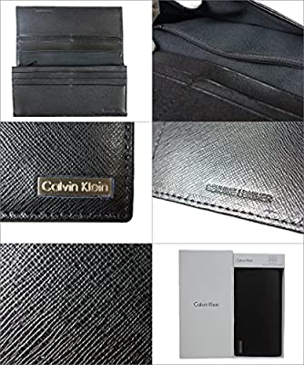 Calvin Klein Men's Leather Secretary with Interior Zipper Wallet
