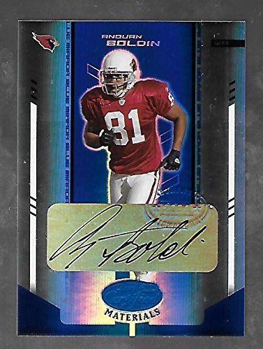 ANQUAN BOLDIN 2004 Leaf Certified Materials Mirror Blue Signatures auto - Leaf Materials 2004 Certified
