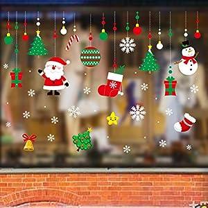 Paquete de 2 Pegatina de Navidad, Zenoplige 50*70 CM Vinilos Stickers Año Nuevo