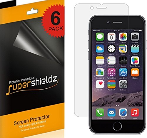 [6-Pack] Supershieldz- Anti-Glare & Anti-Fingerprint (Matte) Screen Protector for Apple iPhone 6 / 6S 4.7
