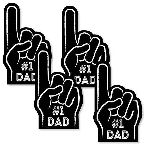 My Dad is Rad - #1 Dad Hand Decorations DIY Father's Day Essentials - Set of 20