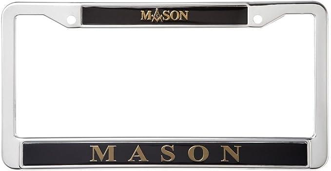 MASONIC MASON MOSON LOGO Metal License Plate Frame Tag Holder