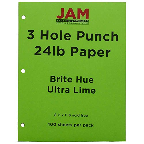 jam-paper-bright-color-paper-85-x-11-24-lb-brite-hue-ultra-lime-green-3-hole-punch-100-pack