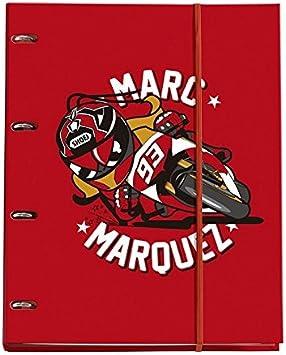Set escolar MiquelRius Marc Marquez- Mochila grande + Carro rojo + estuche + Carpeta de anillas: Amazon.es: Oficina y papelería
