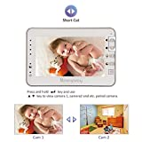 MoonyBaby 4.3 inches Large LCD Video Baby Monitor with Automatic Night Vision & Temperature Monitoring, Two Way Talkback System (MANUALLY Rotated Camera)