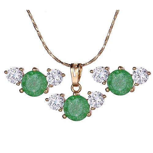 xuping Fashion chapado en oro conjunto de joyas